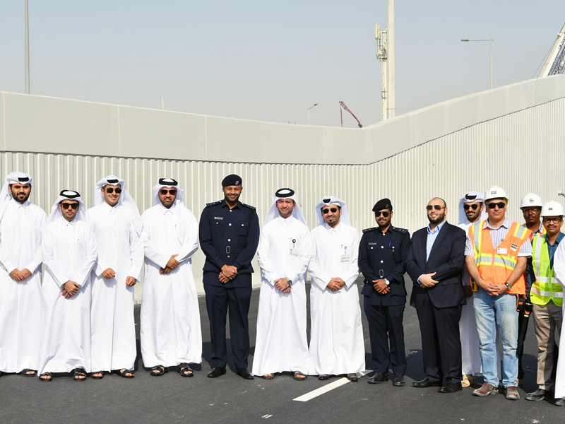 Opening of the first underpass at Mesaimeer Interchange with a length of 220 m