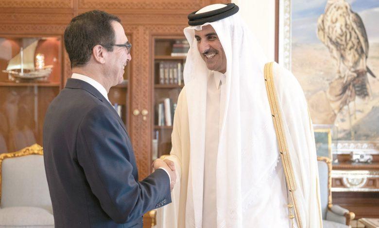 Amir meets US Secretary of the Treasury