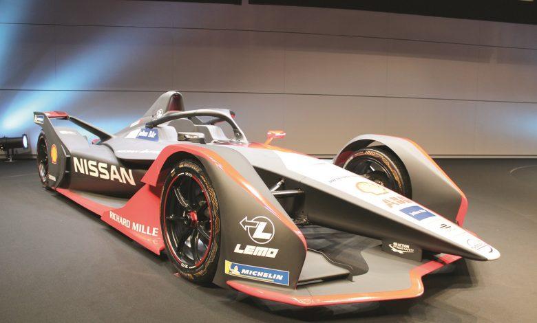 Nissan's Formula E race car gets new kimono-themed look