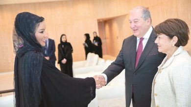 Photo of Sheikha Moza meets President of Armenia