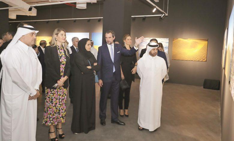 Prince Nikolaos opens solo exhibition at Katara