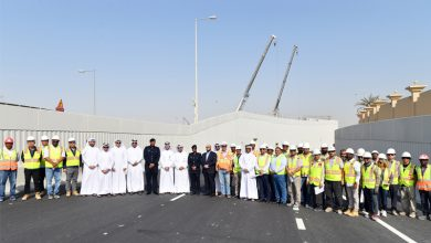 Photo of Opening of the first underpass at Mesaimeer Interchange with a length of 220 m