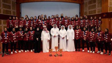 Photo of Sheikh Joaan honours Team Qatar athletes