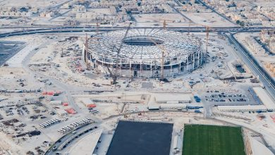 Photo of The features of Al Thumama Stadium start to appear clearly