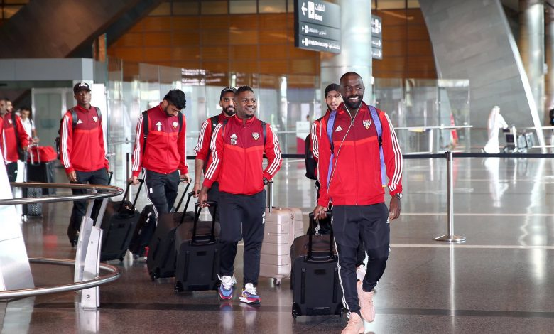 UAE football team arrives in Doha for 24th Arabian Gulf Cup