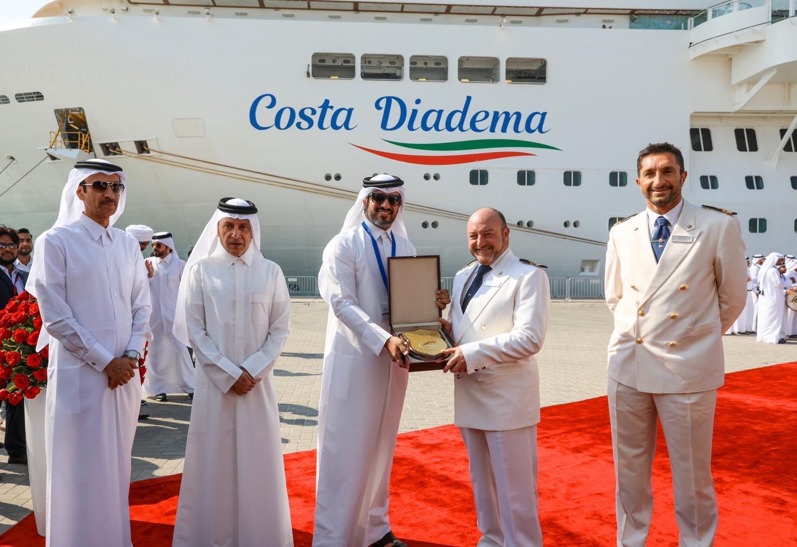 Doha Port welcomed Costa Diadema, on her maiden call to Qatar