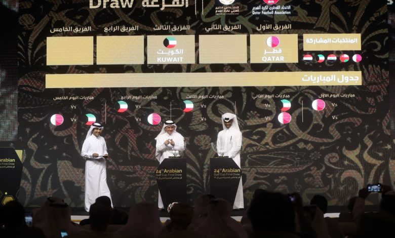 Results of the new draw of Gulf Cup