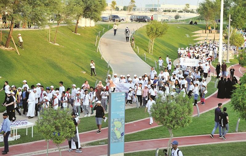 Sheikh Joaan joins thousands in annual diabetes walkathon