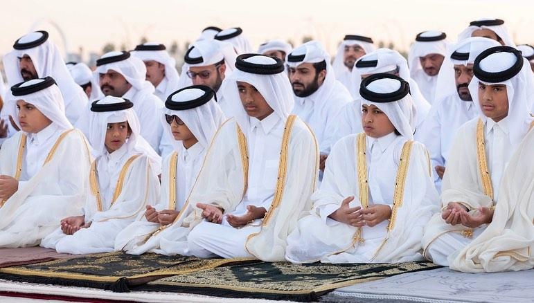 HH the Amir performers Istisqaa (rain-seeking) prayer