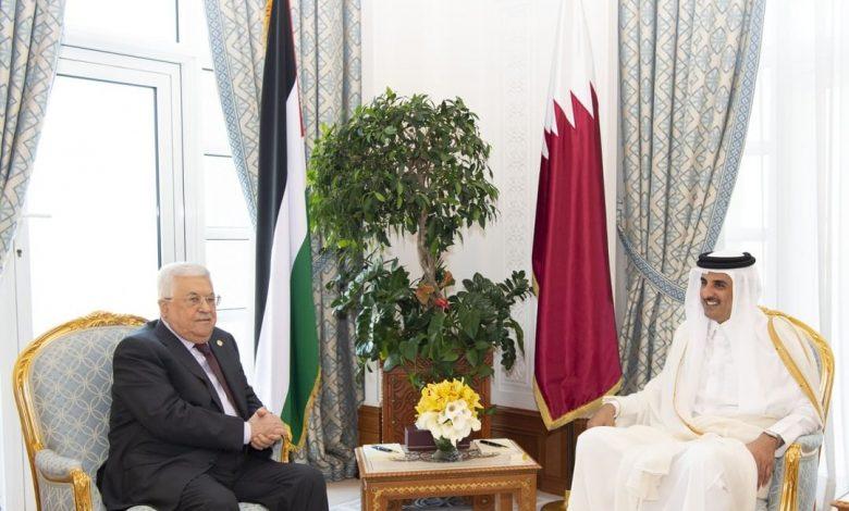 Amir meets President of Palestine