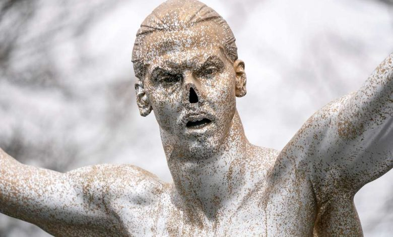 Vandals cut off nose of Zlatan Ibrahimovic's statue in Malmo