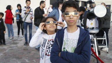 Photo of Skywatchers witness solar eclipse at Katara