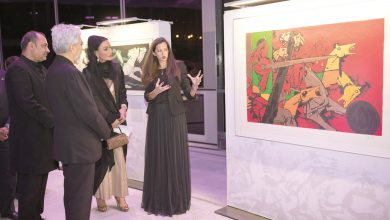 Photo of Sheikha Moza attends unveiling of 'Seeroo Fi Al Ardh' art installation