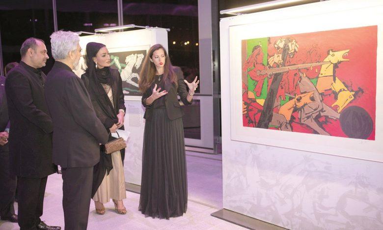 Sheikha Moza attends unveiling of 'Seeroo Fi Al Ardh' art installation