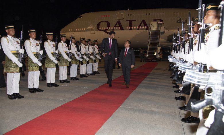 Amir arrives in Kuala Lumpur