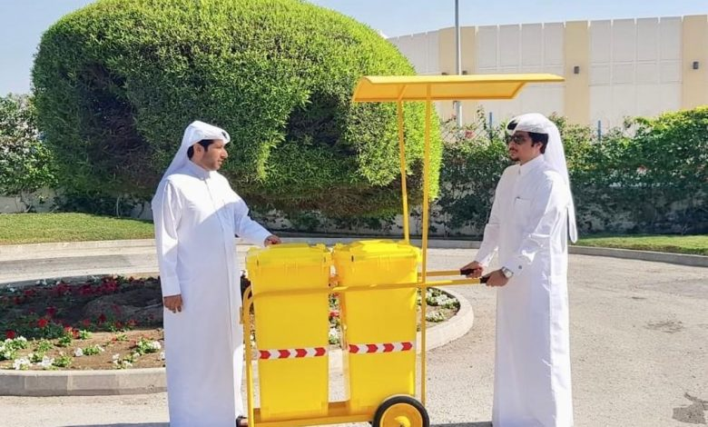 MME launches new hand push cleaning carts with shades