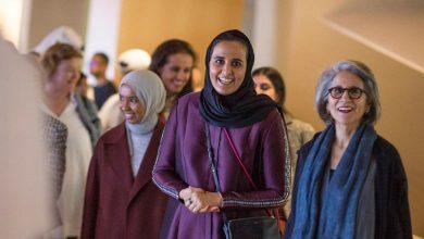 Photo of Sheikha Mayassa greets Sheikha Hussa at NMoQ