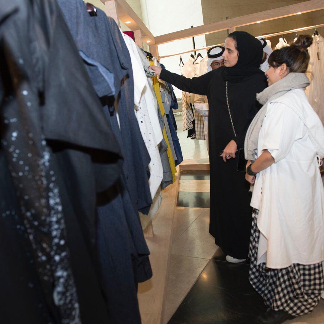 Sheikha Al Mayassa tours Indian fashion exhibition