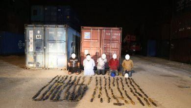 Photo of 100kg of hashish seized in marble shipment