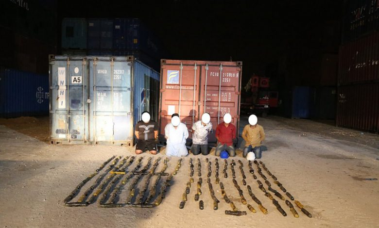 100kg of hashish seized in marble shipment