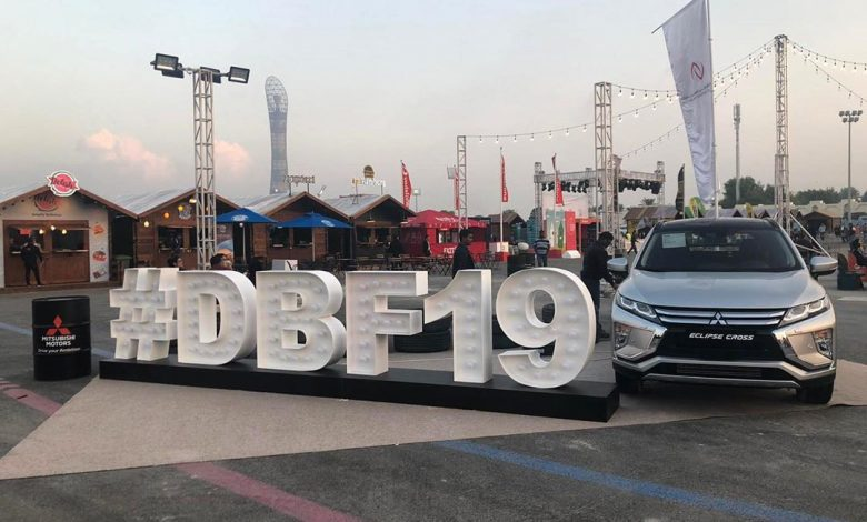 Mitsubishi motors Qatar at the Doha Burger Festival