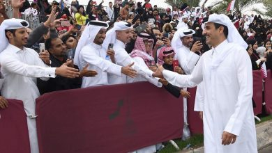 Photo of HH The Amir attends the national day parade