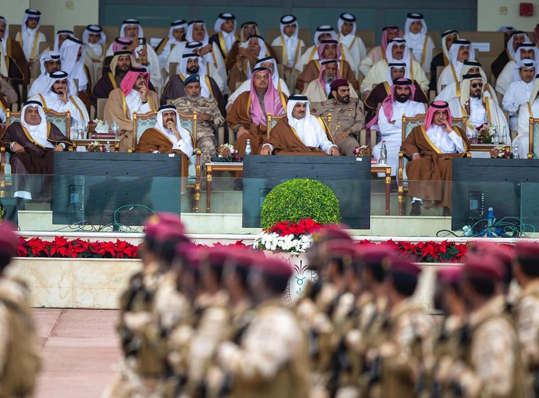 HH The Amir attends the national day parade