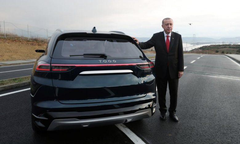 Photo of President Erdogan presents TOGG prototype that he hopes will challenge Tesla