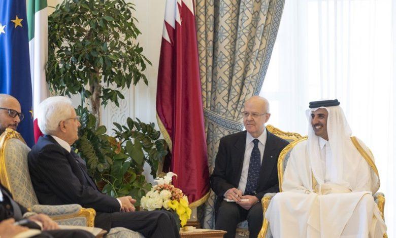 Amir, Italian President hold official talks