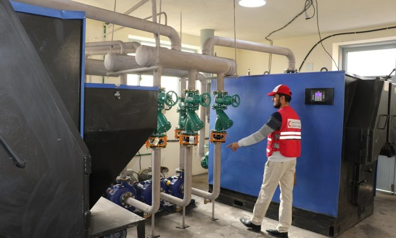 QRCS installs central heating system at Kabul asylum, serving 700 inmates