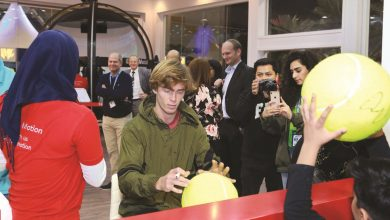 Photo of Tennis stars visit ExxonMobil Qatar Stand
