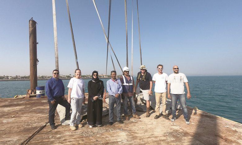 Qatargas installs artificial coral ridge modules off Banana Island