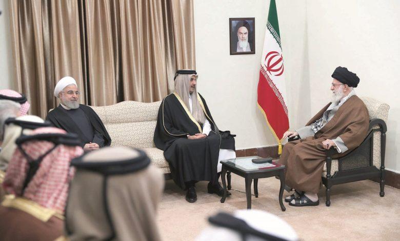 Qatar Amir meets Supreme Leader of Iran