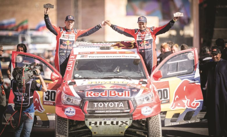 Al-Attiyah wins final stage for hard-fought second