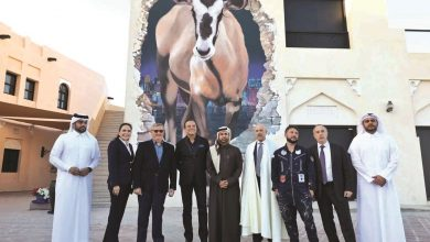 "Photo of Inauguration of the ""Al Maha Going Ahead,"" mural at Katara"