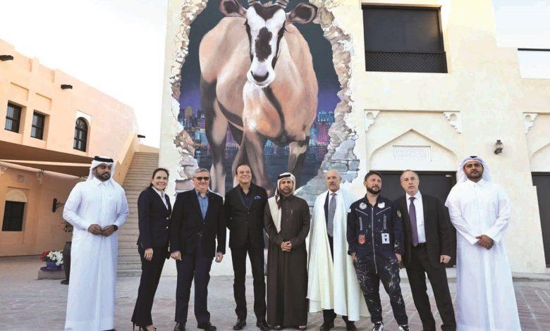 "Inauguration of the ""Al Maha Going Ahead,"" mural at Katara"