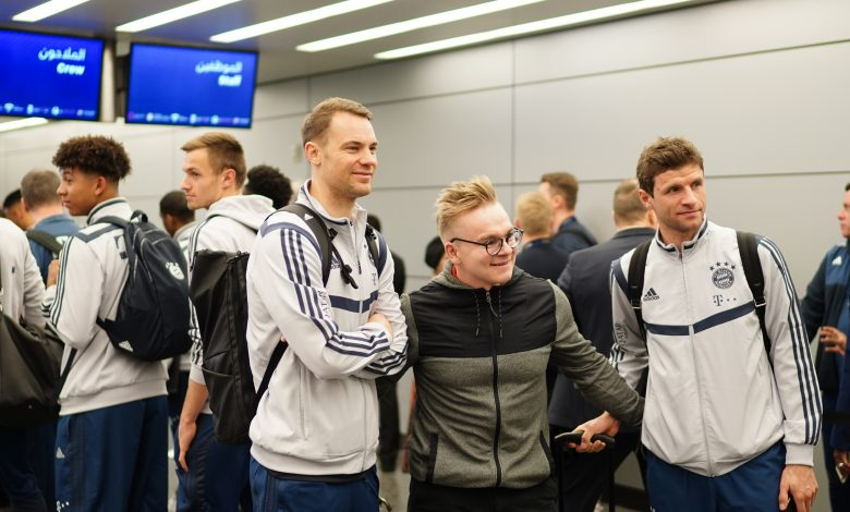 Bayern Munich arrival for Doha training camp