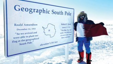 Photo of Qatari adventurer summits the highest mountain in Antarctica