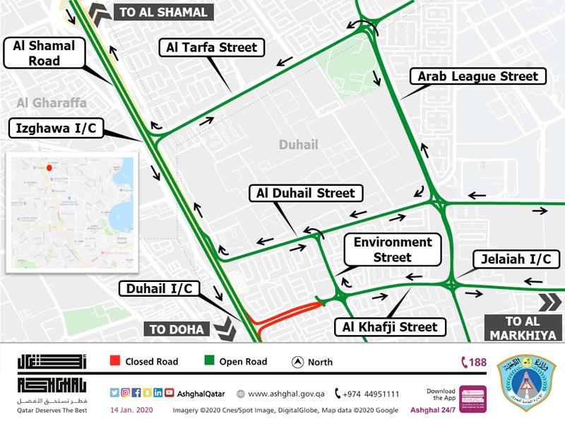 Temporary closure of the access to Al Shamal Road from Al  Khafji Street