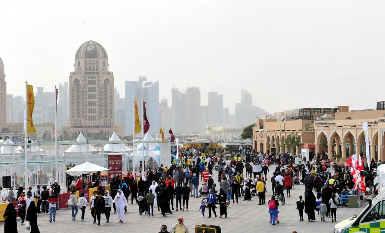 Thousands turn up for NSD events at Katara