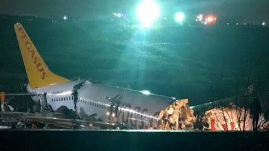 Photo of Plane breaks apart after skidding off runway in Istanbul's airport