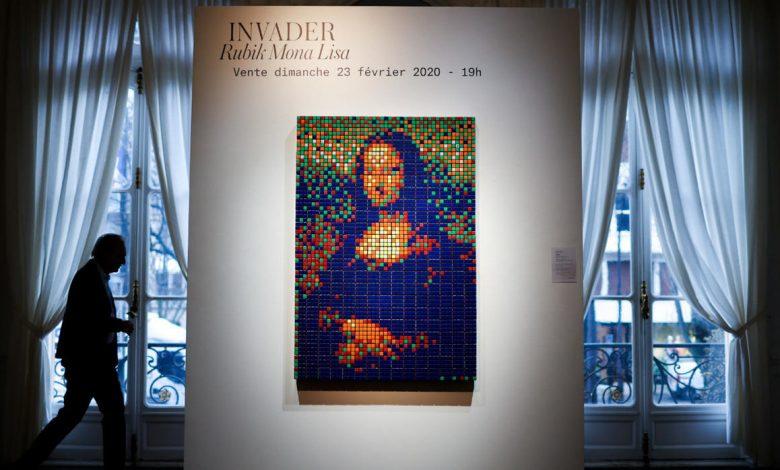 """""""Mona Lisa"""" Rubik's cube sold for 480,000 euros"""
