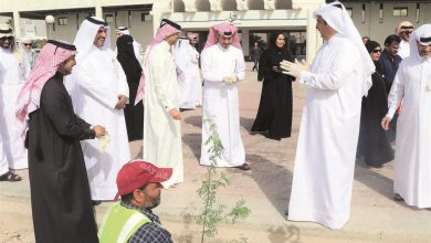 Photo of Qatar Post leads on tree planting mission