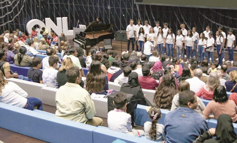 Qatar Youth and Junior Choirs performs at QNL