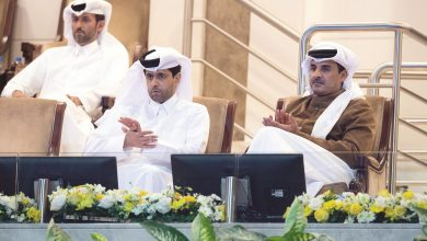 Photo of Amir attends part of Qatar Total Open