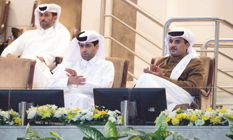 Amir attends part of Qatar Total Open