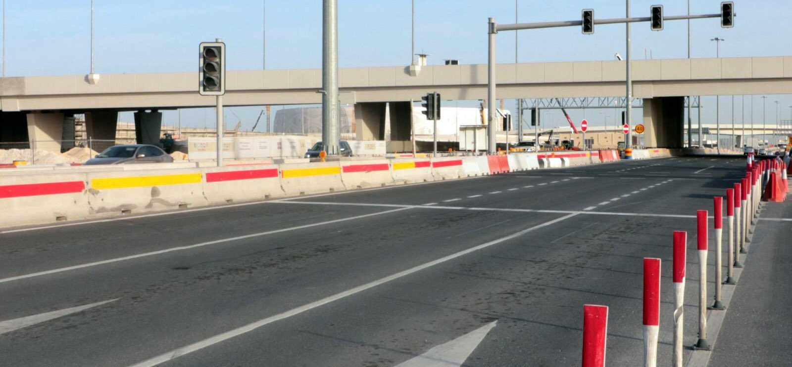 Partial opening of new bridge and underpass at Mesaimeer Interchange