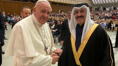 Photo of Pope Francis meets Qatar's envoy