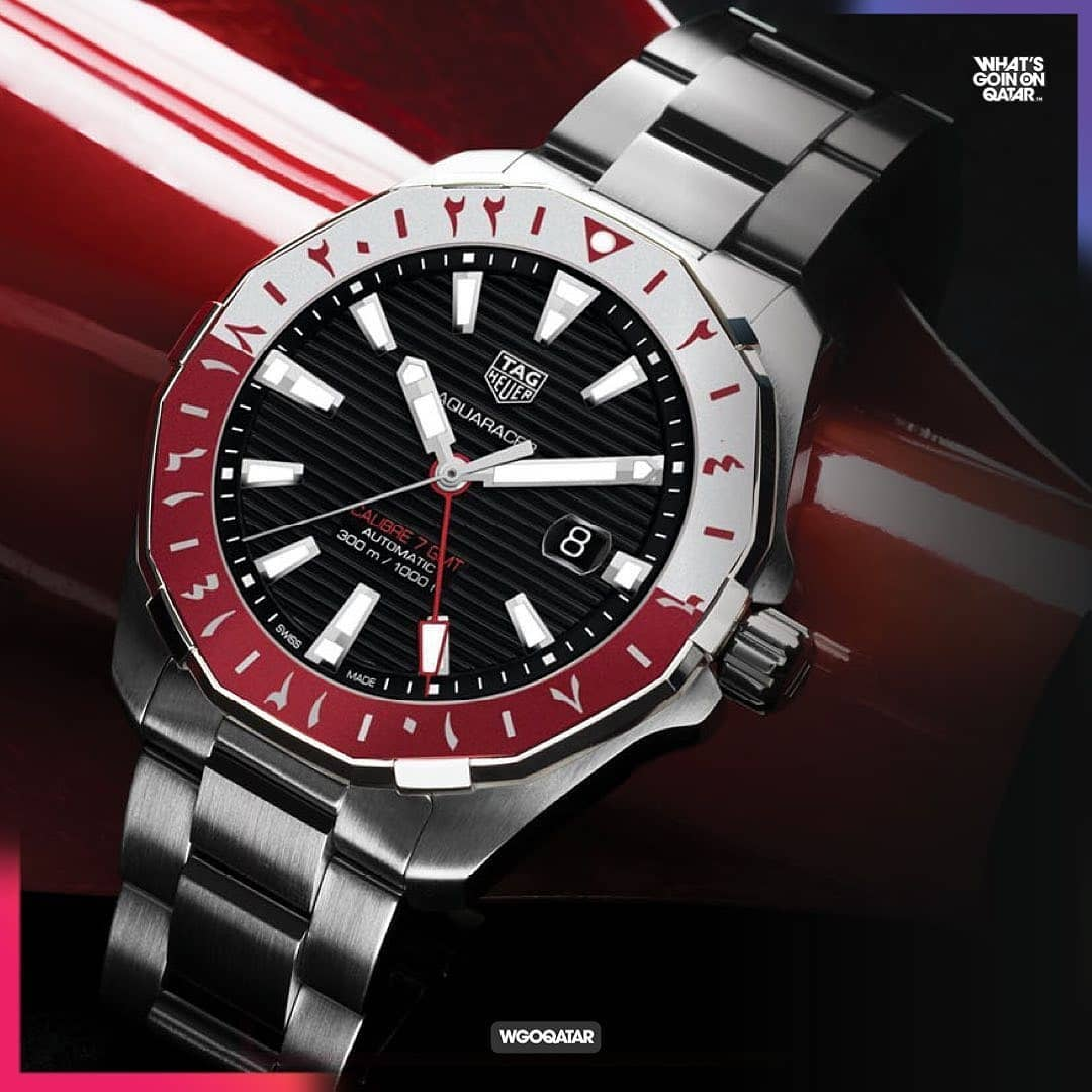 The exclusive premiere of the Qatar limited edition Aquaracer Calibre 7 GMT