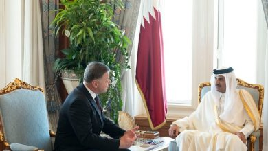 Photo of Amir receives credentials of new ambassadors